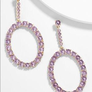 Angelyn hoop earrings in lavender